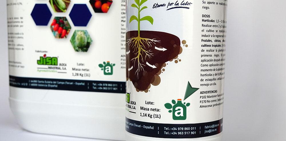 Fertilizantes con logotipo AEVAE