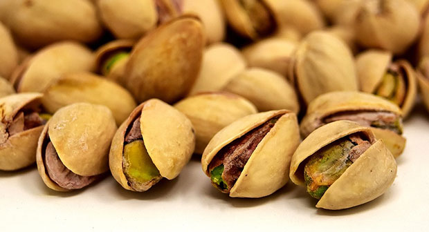 Recolección del pistacho