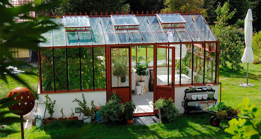 Invernadero casero de cristal
