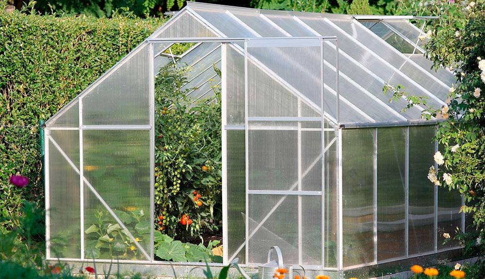 Invernadero casero de policarbonato
