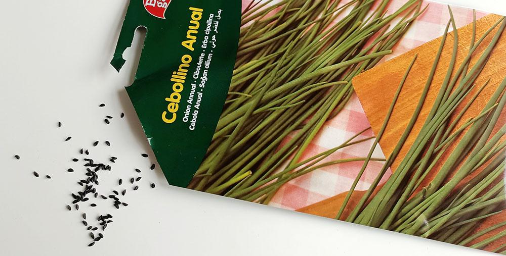 Sobres de semilla de cebollino